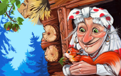 Сказка Баба-яга и Заморышек