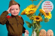 Стихи о войне для детей начальной школы