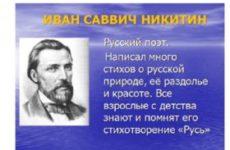 Никитин Иван Саввич — Стихи для детей, школьников